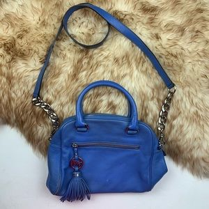 Michael Kors MK Blue Crossbody Tote Handbag